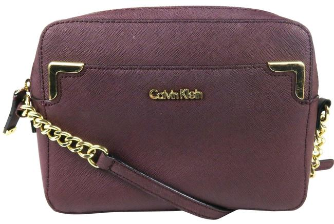 Item - Crossbody Chain-link Strap Medium Plum Purple Leather Shoulder Bag