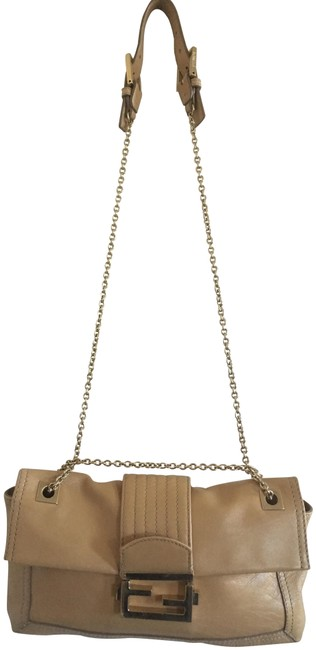 Item - Rare Small Chain Buckle Light Tan Lambskin Leather Shoulder Bag