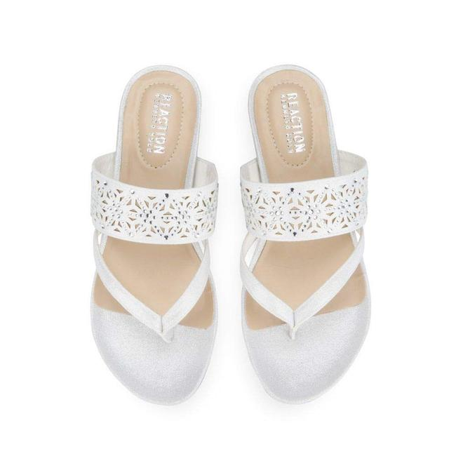 Kenneth Cole White W35 Reaction Great Chime Women's Sandals Size US 8.5 Regular (M, B) Kenneth Cole White W35 Reaction Great Chime Women's Sandals Size US 8.5 Regular (M, B) Image 1