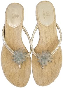 Cole Haan Natural and gold Sandals
