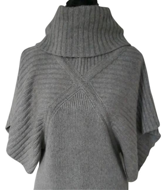 Item - Grey Cashmere Silk Blend Sweater Short Night Out Dress Size 6 (S)