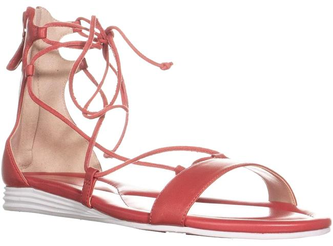 Item - Red Grand Lace Up Sandals New Manor Wedges Size US 8.5 Regular (M, B)