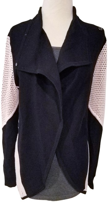 Item - Black and Pink Blazer Shawl Sweater Woman Medium Poncho/Cape Size 10 (M)
