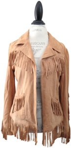 Doma Fringe Fringe Suede Aspen Colorado Tan Brown Leather Jacket
