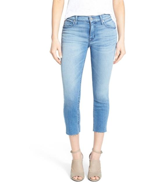 Hudson Blue Light Wash Fallon High Rise Raw Hem Capri/Cropped Jeans Size 0 (XS, 25) Hudson Blue Light Wash Fallon High Rise Raw Hem Capri/Cropped Jeans Size 0 (XS, 25) Image 1