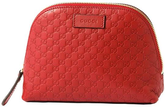 Preload https://img-static.tradesy.com/item/26129138/gucci-new-red-leather-micro-gg-guccissima-449893-cosmetic-bag-0-0-540-540.jpg