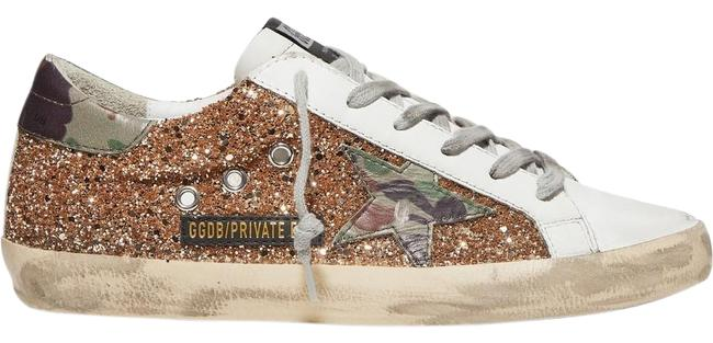 Item - Superstar Glittered Distressed Leather Sneakers Size EU 37 (Approx. US 7) Regular (M, B)