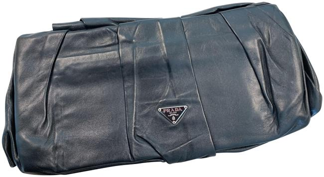 Item - Night Out Black Lambskin Leather Clutch