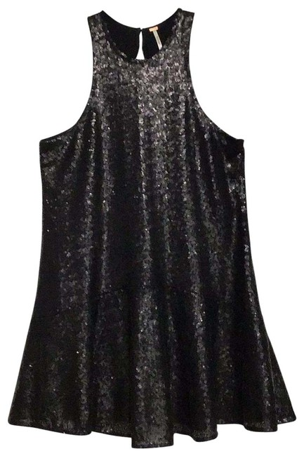 Free People Black Sequin Short Night Out Dress Size 2 (XS) Free People Black Sequin Short Night Out Dress Size 2 (XS) Image 1