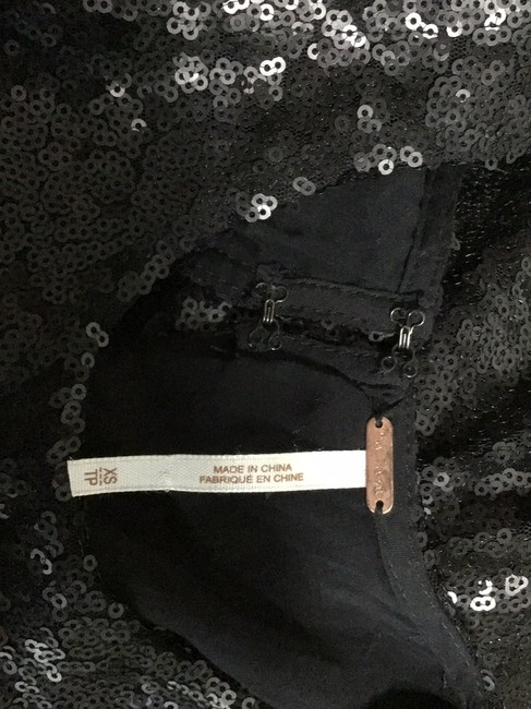 Free People Black Sequin Short Night Out Dress Size 2 (XS) Free People Black Sequin Short Night Out Dress Size 2 (XS) Image 4