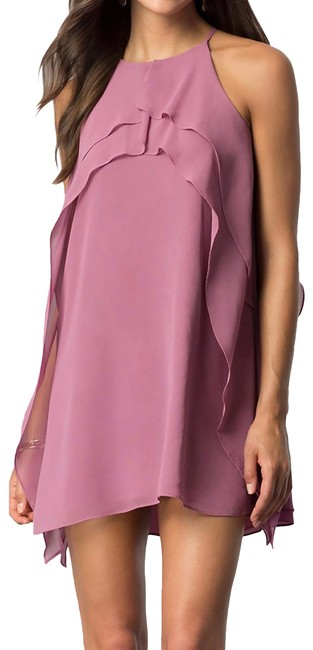 Item - Dusty Orchid Adjustable-strap Party Short Cocktail Dress Size 6 (S)