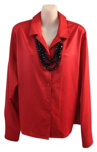 Suit Sateen Polyester Top Red