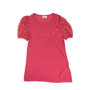 RED Valentino Modal Lace Fall Soft Winter Top Pink