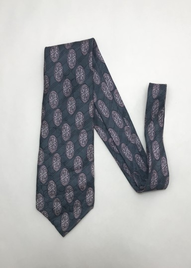 Dior Blue Christian with Hidden Circle Print Tie/Bowtie Image 1