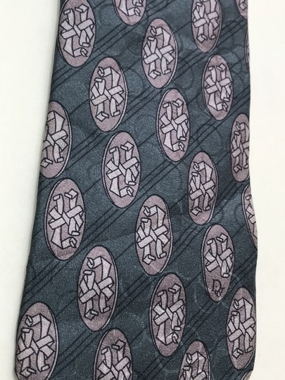 Dior Blue Christian with Hidden Circle Print Tie/Bowtie Image 4