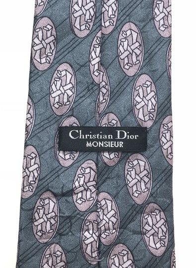 Dior Blue Christian with Hidden Circle Print Tie/Bowtie Image 6