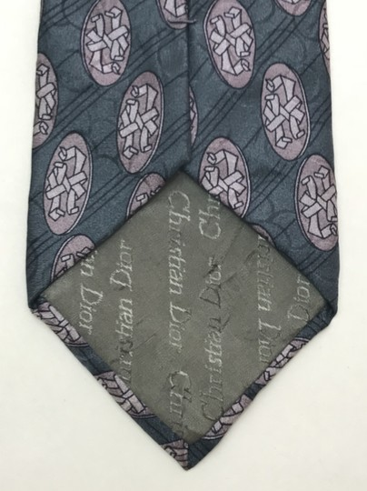 Dior Blue Christian with Hidden Circle Print Tie/Bowtie Image 7