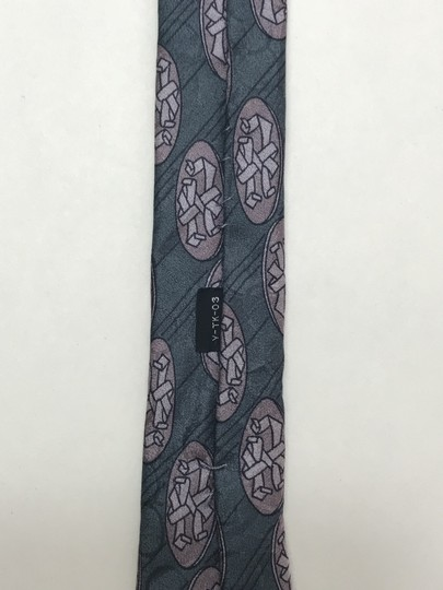 Dior Blue Christian with Hidden Circle Print Tie/Bowtie Image 8