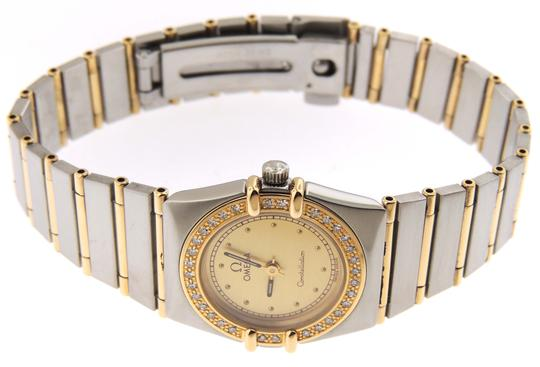 Omega Ladies Omega Constellation Diamonds Full 18KYG Bar/SS 23mm Watch Image 7