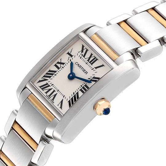 Cartier Cartier Tank Francaise Small Steel Yellow Gold Ladies Watch W51007Q4 Image 4