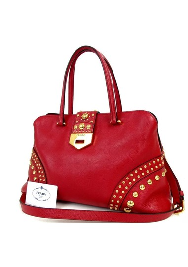 Preload https://img-static.tradesy.com/item/26130882/prada-saffiano-studded-bijou-tote-red-leather-satchel-0-0-540-540.jpg