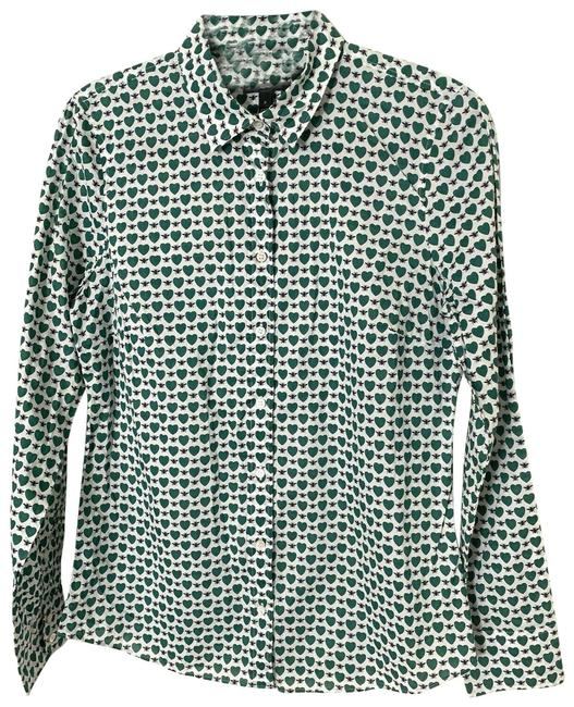 Preload https://img-static.tradesy.com/item/26130889/jcrew-perfect-shirt-a6376-bee-heart-button-down-top-size-8-m-0-3-650-650.jpg