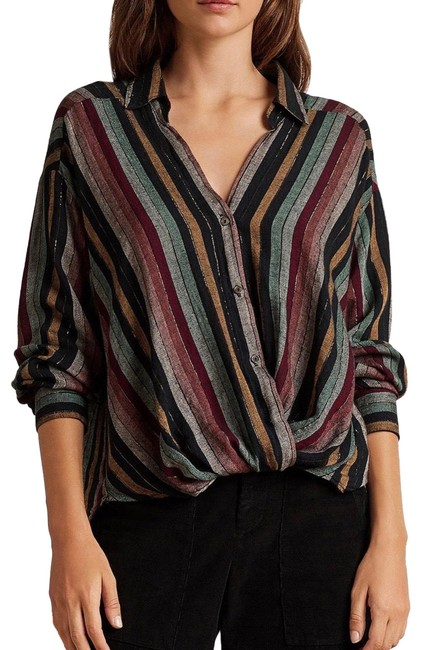 Preload https://img-static.tradesy.com/item/26130899/velvet-by-graham-and-spencer-twist-nessa-twist-front-striped-shirt-button-down-top-size-8-m-0-4-650-650.jpg