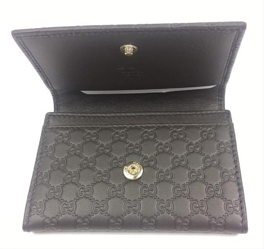 Gucci Gucci MicroGuccissima Brown Leather Card Case Wallet Bifold 544030 Image 2