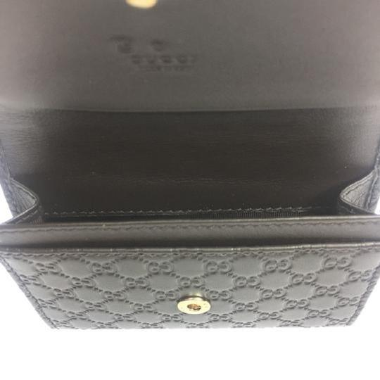 Gucci Gucci MicroGuccissima Brown Leather Card Case Wallet Bifold 544030 Image 3