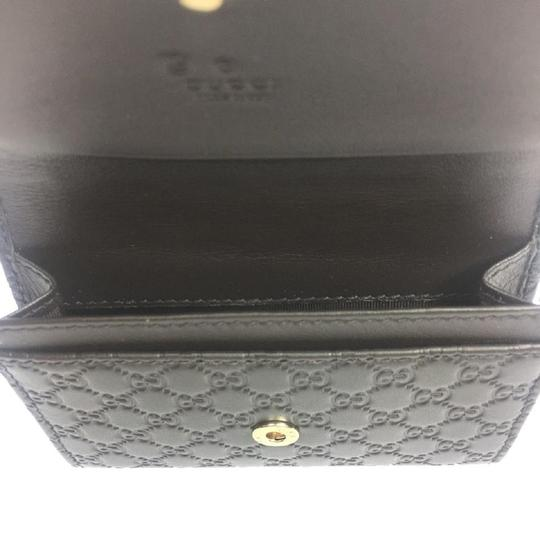 Gucci Gucci MicroGuccissima Brown Leather Card Case Wallet Bifold 544030 Image 4