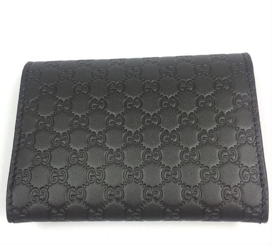 Gucci Gucci MicroGuccissima Brown Leather Card Case Wallet Bifold 544030 Image 7