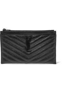 Saint Laurent Ysl Pouch Leather Clutch