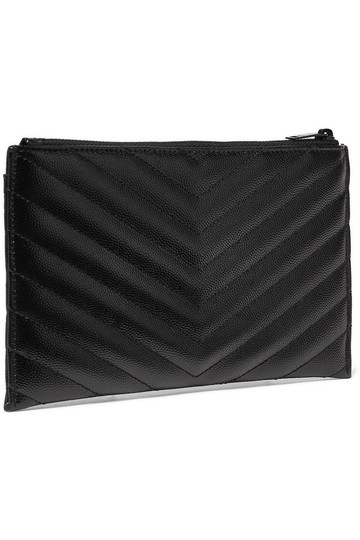 Saint Laurent Ysl Pouch Leather Clutch Image 7