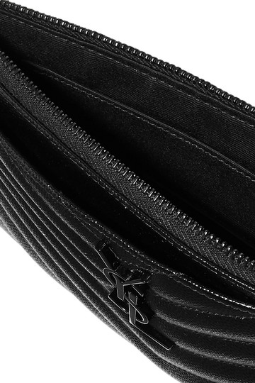 Saint Laurent Ysl Pouch Leather Clutch Image 8