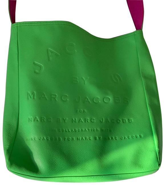 Item - Green/ Pink Leather Tote