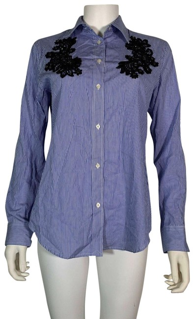 Preload https://img-static.tradesy.com/item/26130928/lauren-ralph-lauren-multicolor-button-shirt-blue-white-embroidered-s-petite-button-down-top-size-4-s-0-3-650-650.jpg