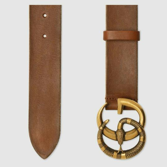 Gucci Gucci marmont GG buckle leather belt with snake size 95/38 Image 1