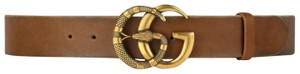 Gucci Gucci marmont GG buckle leather belt with snake size 95/38