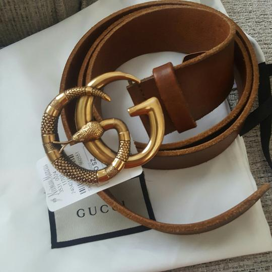 Gucci Gucci marmont GG buckle leather belt with snake size 95/38 Image 3