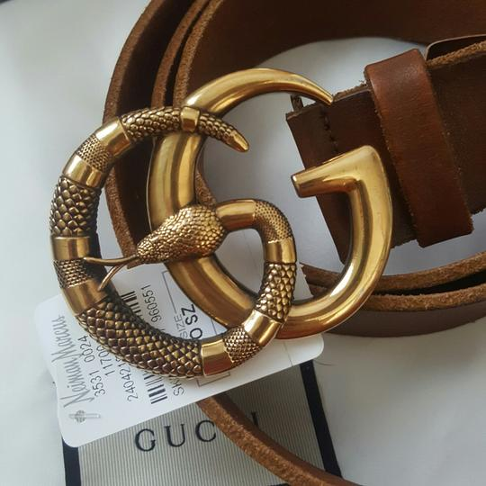 Gucci Gucci marmont GG buckle leather belt with snake size 95/38 Image 4