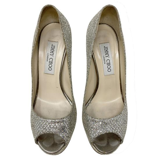 Jimmy Choo gold and silver Platforms Image 1