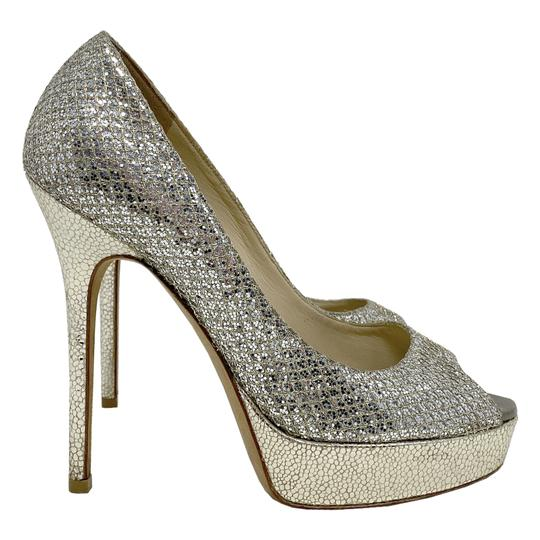 Jimmy Choo gold and silver Platforms Image 2