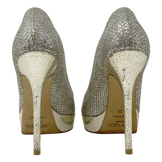 Jimmy Choo gold and silver Platforms Image 3