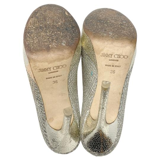 Jimmy Choo gold and silver Platforms Image 5