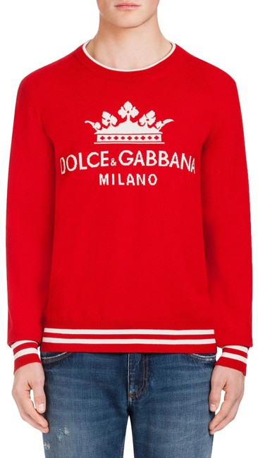 Preload https://img-static.tradesy.com/item/26130948/dolce-and-gabbana-men-s-round-neck-cashmere-corona-intarsia-red-sweater-0-3-650-650.jpg