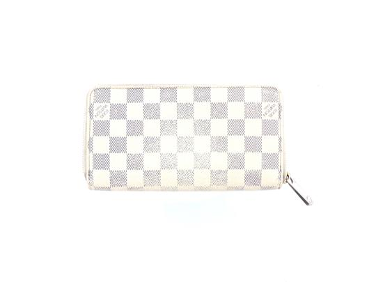 Louis Vuitton Zippy Damier Azur Canvas Leather Zip Clutch Long Wallet Image 2