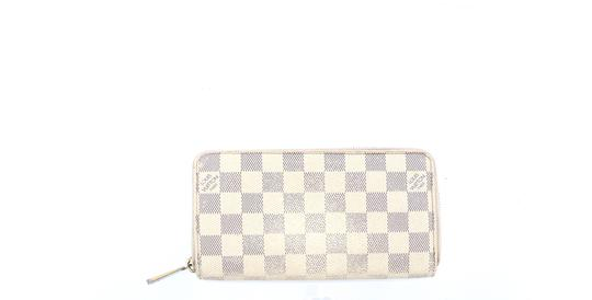 Louis Vuitton Zippy Damier Azur Canvas Leather Zip Clutch Long Wallet Image 9
