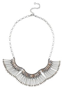 Stella & Dot Twlight Silver Fringe Statement Necklace
