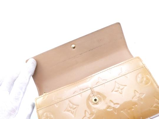 Louis Vuitton Sarah Vernis Monogram Patent Leather Long Clutch Wallet Image 10