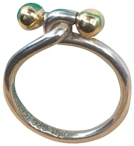 Tiffany & Co. TC021 Silver and 18K gold hook and eye ring